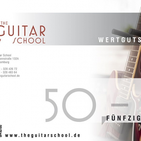 WERTGUTSCHEIN-50 The Guitar School