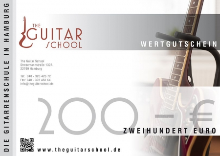 Wertgutschein 200 The Guitar School