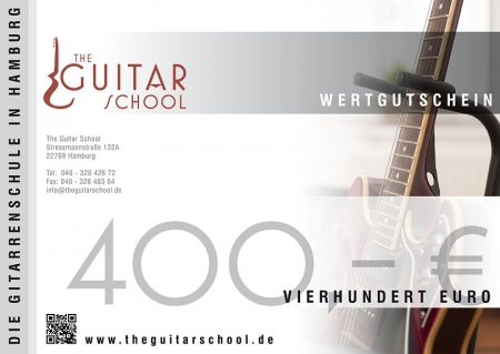 Wertgutschein 400 The Guitar School