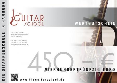 Wertgutschein 450 The Guitar School