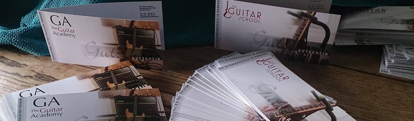 Gutscheine verschenken - The Guitar School