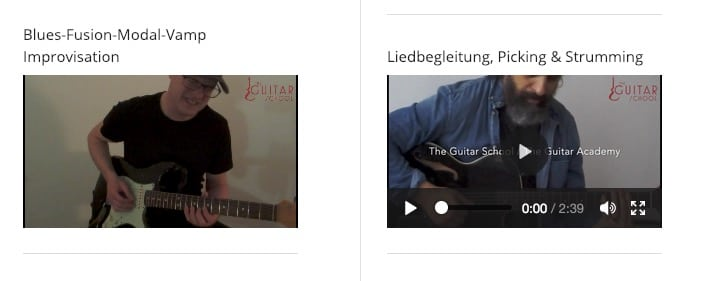 Videoseite - The Guitar School
